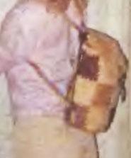 Рюкзачок из лоскутов кожи