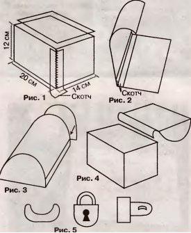 Сундучок из картона своими руками схема