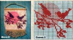 Низание плотного бисерного полотна квадратами