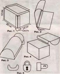 Электрическая Сундучок своими руками из картона схема