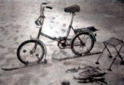 Велосипед на лыжах