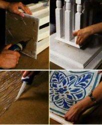 Столешница со стеклянной мозаикой