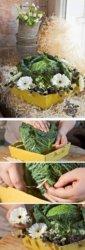Флористические композиции из овощей для свадьбы