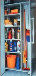 Хозяйственный шкафчик на колесах