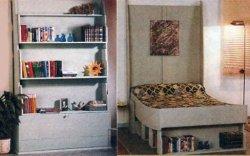 Кровать — книжный шкаф