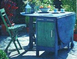 Складной  садовый стол -хранилище