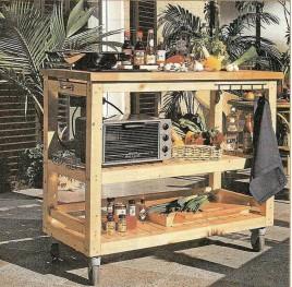 Кухня на колесах своими руками