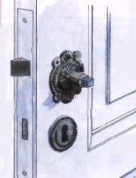 Почините старую дверную ручку