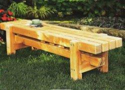 Простая садовая скамья