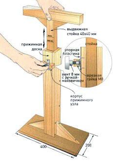 Как сделать телескопическую стойку своими руками