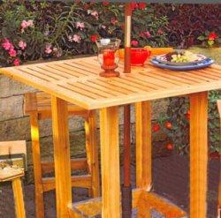 Простой столик для террасы