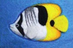 Банный гламур: рыбки на шапке
