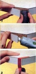 Починка кромочных обкладок