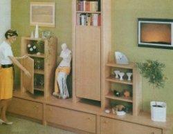 Шкаф-стенка из унифицированных деталей