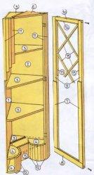 Угловой шкаф-витрина