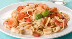 Как вкусно приготовить морепродукты. Спагетти с морепродуктами