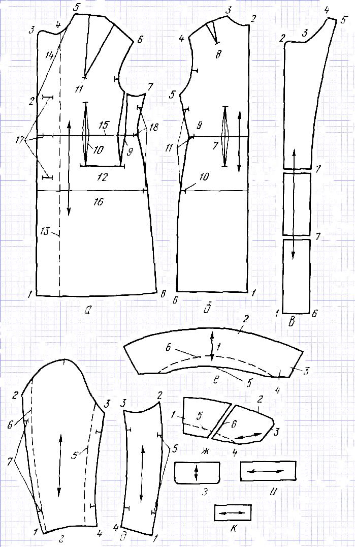 выкройка и обработка рукавов