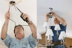 Установка и подключение люстры
