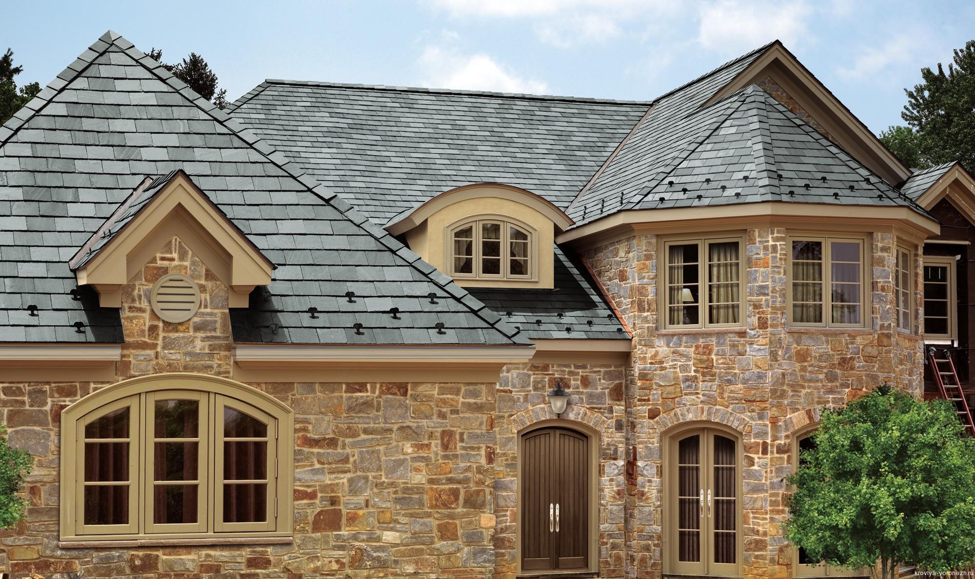 Двускатные крыши частных домов фото