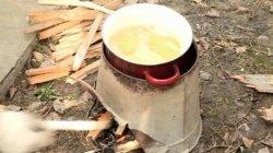 Печка из ведра