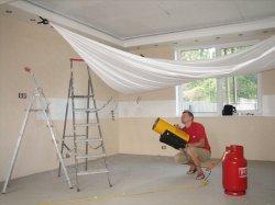Натяжной потолок: производим монтаж своими руками