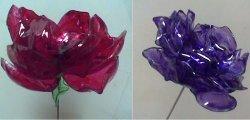 Оригинальный цветок из пластиковой бутылки