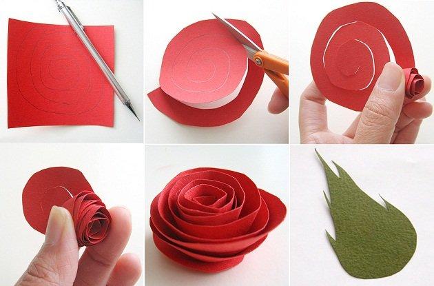 Как сделать своими руками цветы из цветной