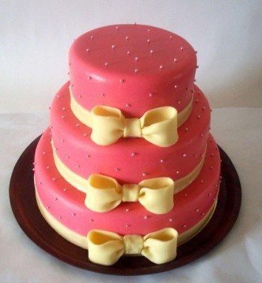Как приготовить трехъярусный торт с фото