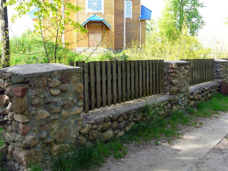 Каменный забор своими руками фото 803