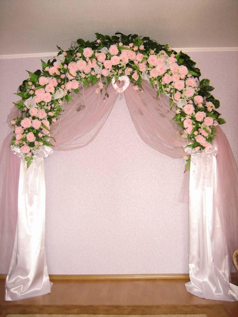 Свадебная арка украшаем своими руками