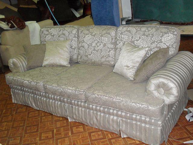 Как обтянуть диван своими руками фото