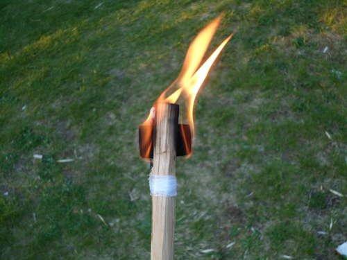 Как сделать факел своими руками