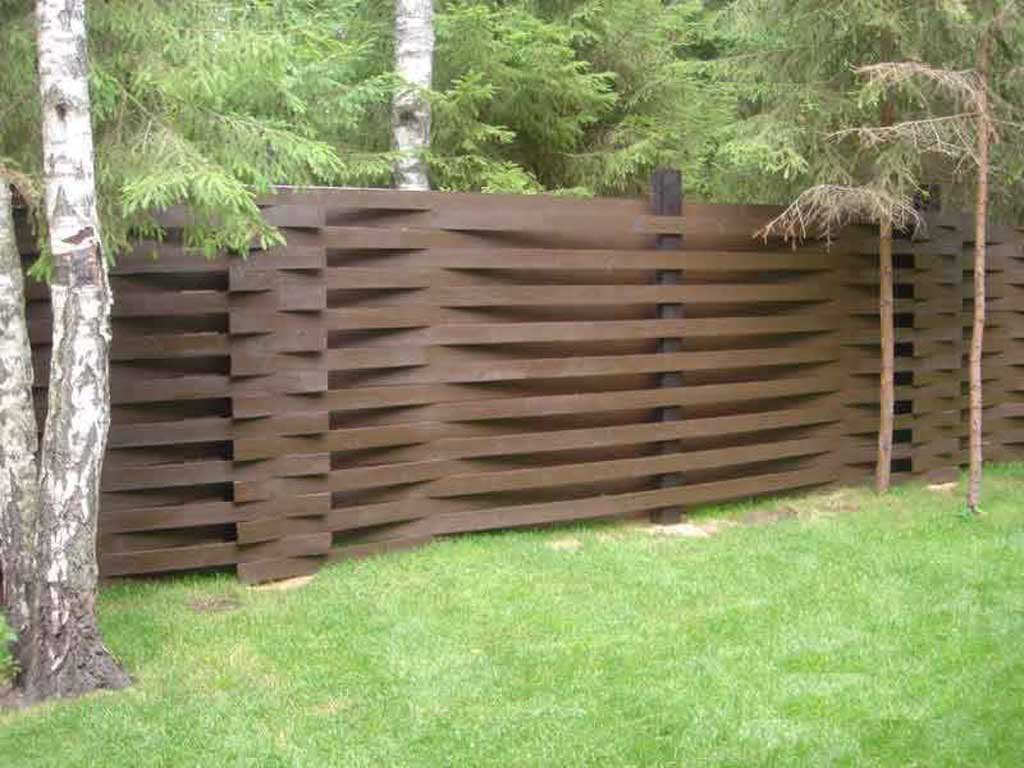 Забор дома своими руками