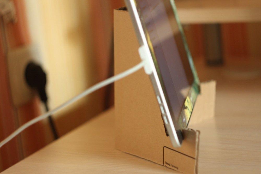 Подставка из картона для планшета своими руками