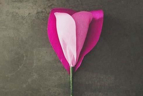 Тюльпаны из салфеток своими руками пошаговое фото 66