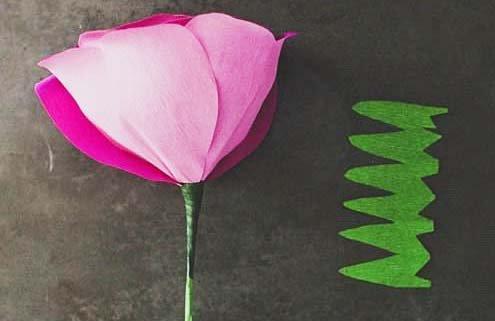 Тюльпан из салфеток своими руками 21