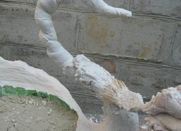 Лебедь для сада своими руками из гипса мастер класс