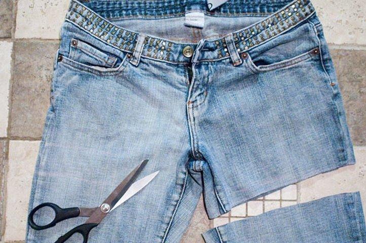 Как сделать шорты из джинс своими руками рваные