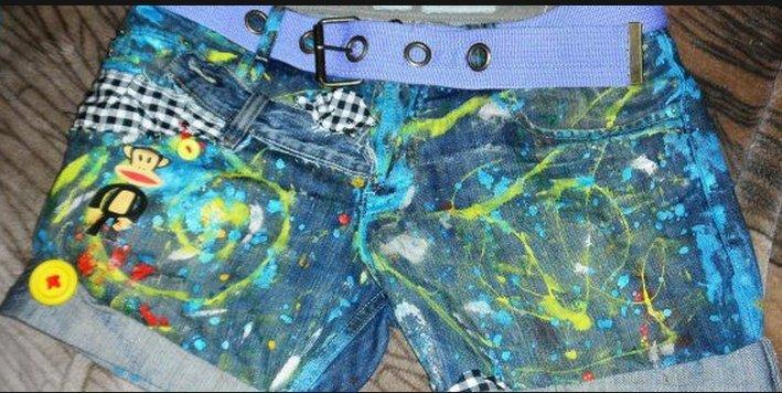 Рисунки на шортах своими руками - Sky Wander