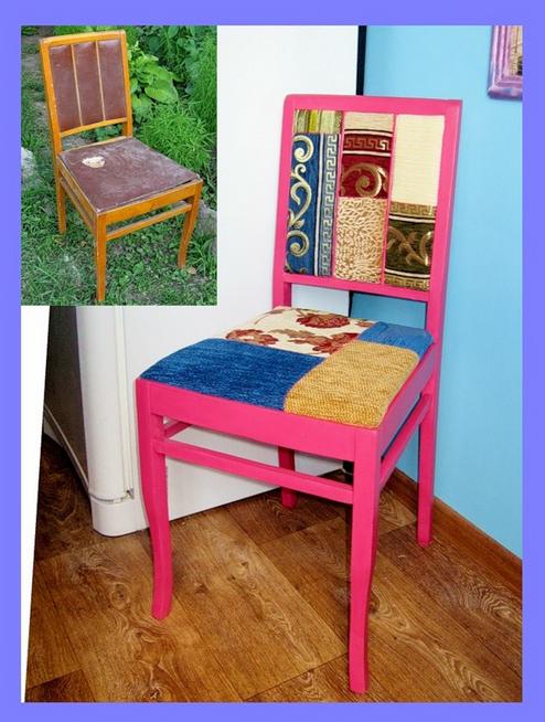 Обновляем деревянные стулья