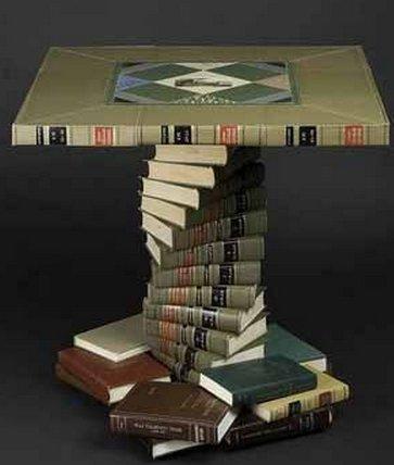 Стол из книг своими руками