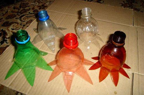 Как цветы из пластиковых бутылок своими руками