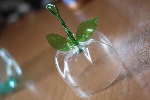 Яблоко из пластиковой бутылки своими руками 45