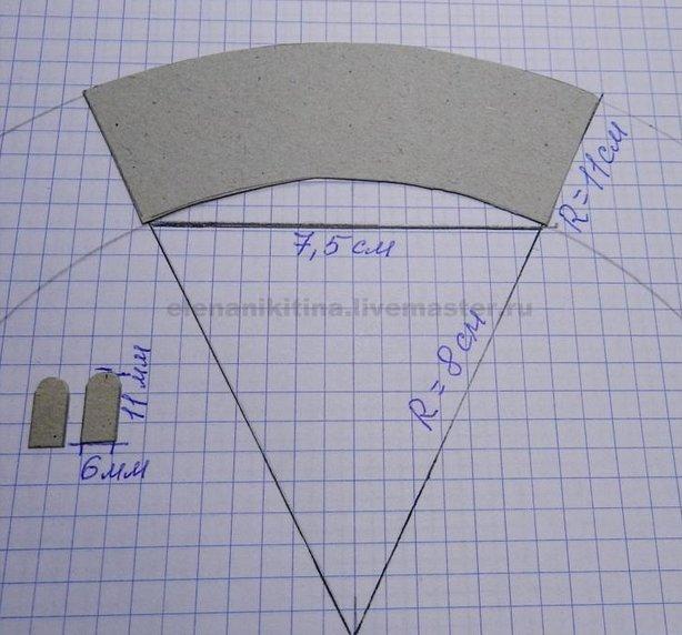 Как сделать из бумаги ведро снеговика
