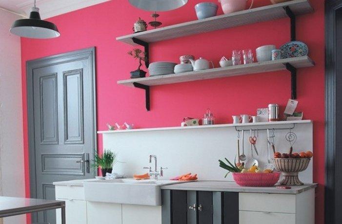 Полки на кухне фото