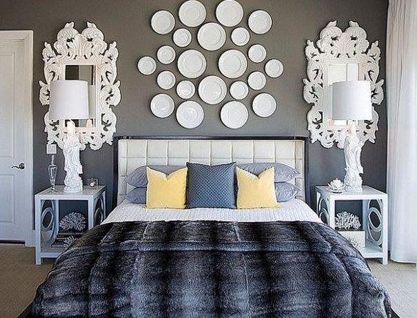 Как украсить стену в спальне своими руками фото 48