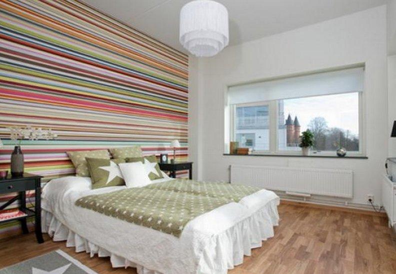 как украсить стену в спальне