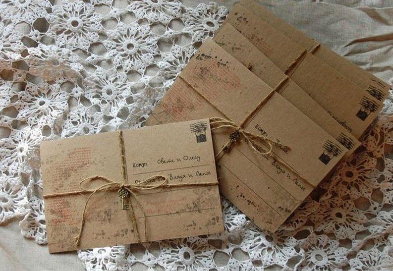 Приглашения своими руками конверты