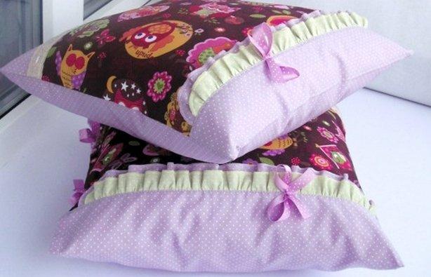Наволочка на подушку своими руками сшить