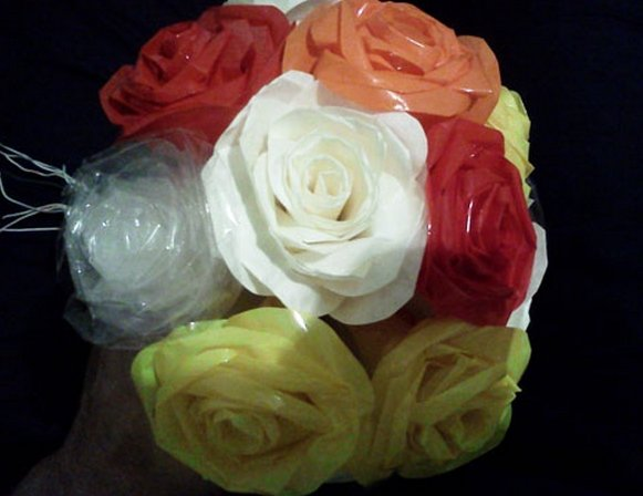 Стебель для розы канзаши